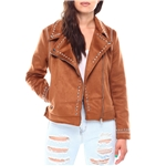 Fashion Lab ladies faux shearling jacket with studs