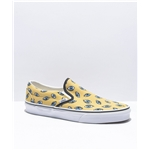 Vans Slip-On Looking Glass Yellow & White Skate Shoes