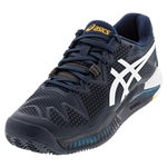 Tennisexpress Men`s GEL-Resolution 8 Clay Tennis Shoes French Blue and White