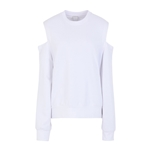 8 by YOOX ORGANIC COTTON CUT-OUT DETAIL SWEATER