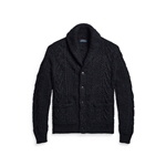 POLO RALPH LAUREN ARAN-KNIT COTTON-BLEND SHAWL CARDIGAN