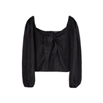 8 by YOOX FRONT BOW PUFF-SLEEVE BLOUSE