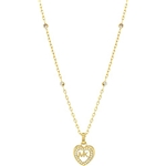 Michael Kors Womens Love Is In The Air Pave Heart Pendant Necklace