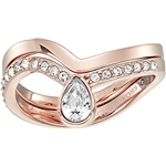 Michael Kors Womens Brilliance Powerful Romance Pave Double Stack Ring