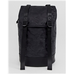 Asos ASOS DESIGN backpack in black camo with double straps