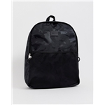 Asos ASOS DESIGN backpack in black camo print and mesh pocket