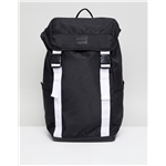 Asos ASOS DESIGN backpack in black with white double straps