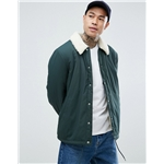Asos ASOS DESIGN coach jacket with fleece lining in bottle green
