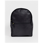 Asos ASOS DESIGN leather backpack in black