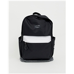 Asos Jack & Jones contrast backpack in monochrome with branding