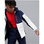 Asos Protest Mount 18 Puffer Snow Jacket in White/Blue