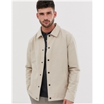 Asos River Island coach jacket in stone