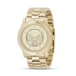 Michael Kors Oversized Chronograph Goldtone Watch, 44 mm